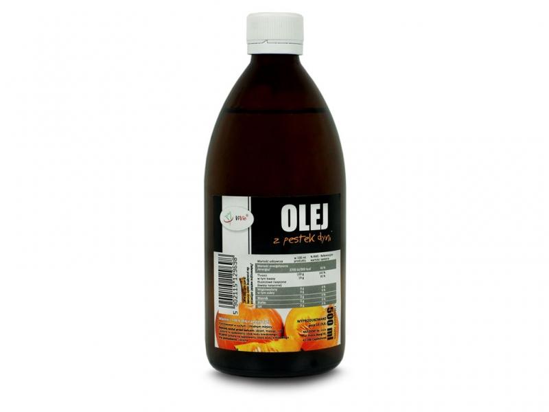 Olej z pestek dyni zimnotłoczony