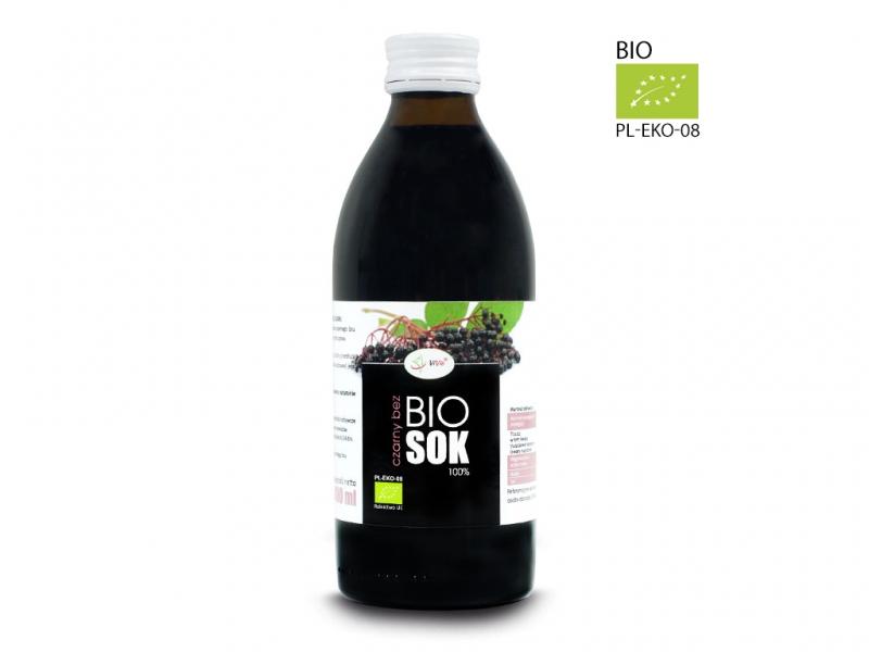 Sok BIO czarny bez naturalny 100% tłoczony