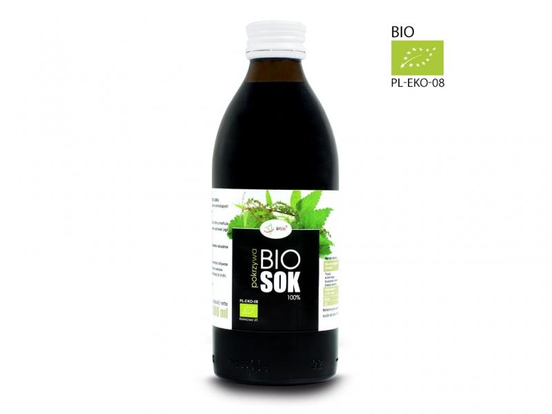 Sok BIO pokrzywa naturalny 100% tłoczony