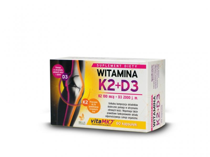 Witamina D3 2,000IU+K2-MK7 100mcg